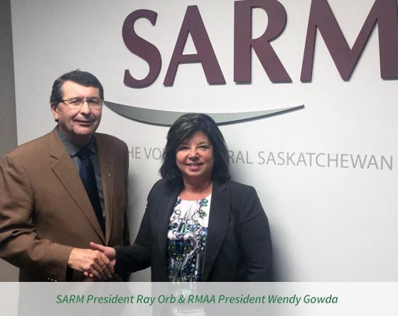 SARM President Ray Orb & RMAA President Wendy Gowda